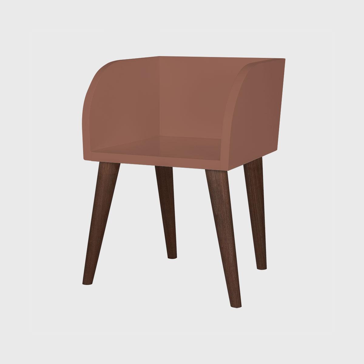Cadeira ioio jequitibá chocolate pintada