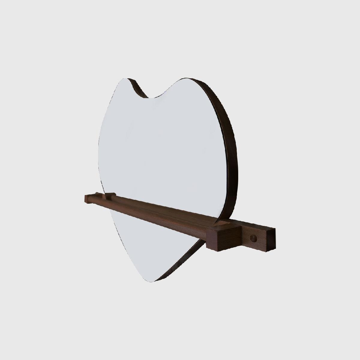 Espelho gogh com barra jequitibá