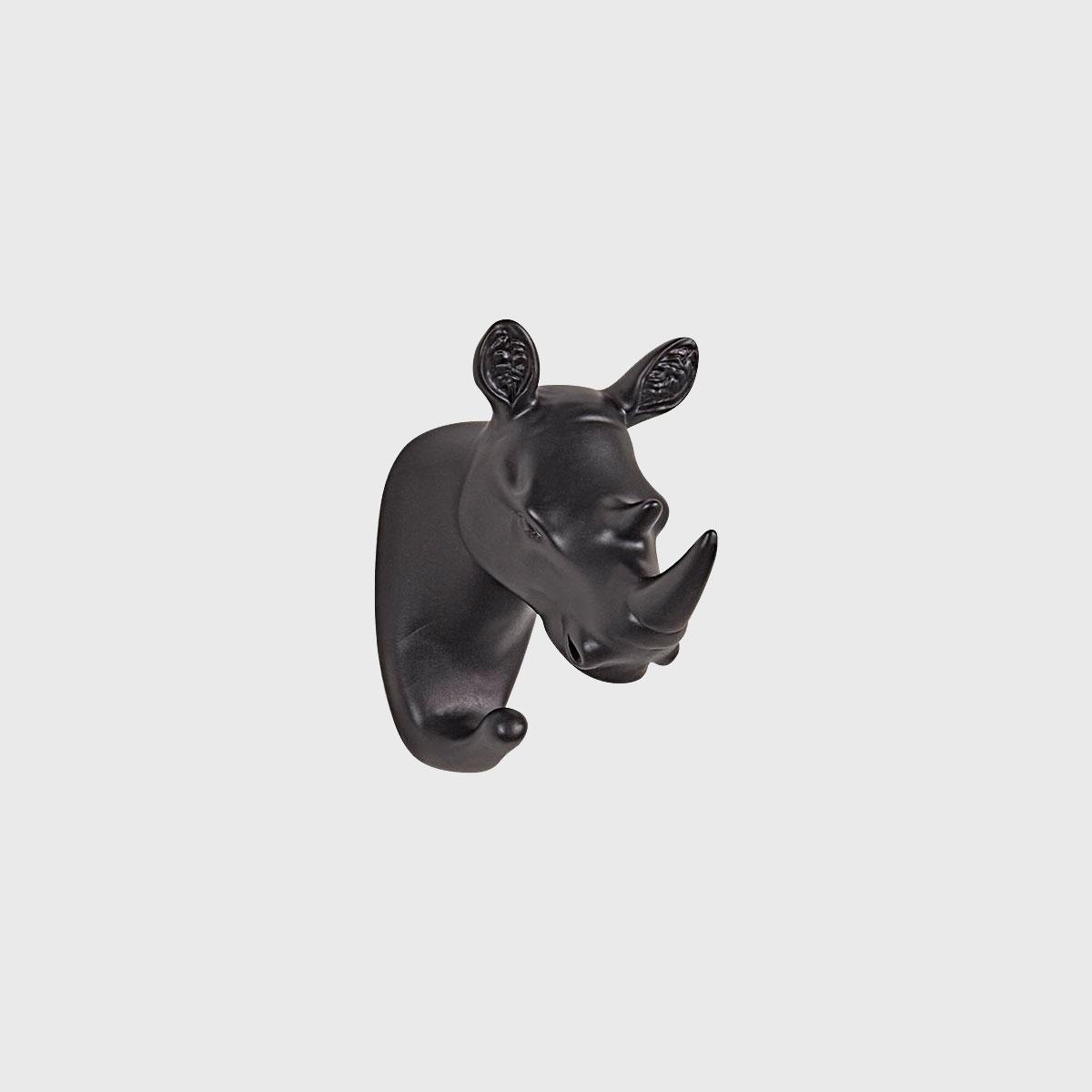 Gancho de Parede Resina Rinoceronte