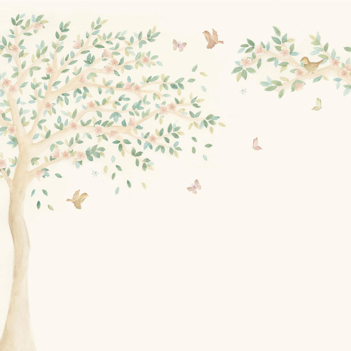 Painel árvore de cerejeira