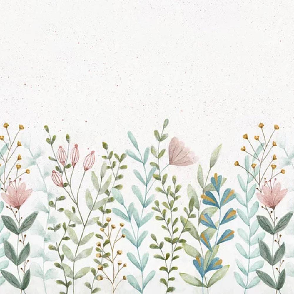 Painel barrado floral encantado