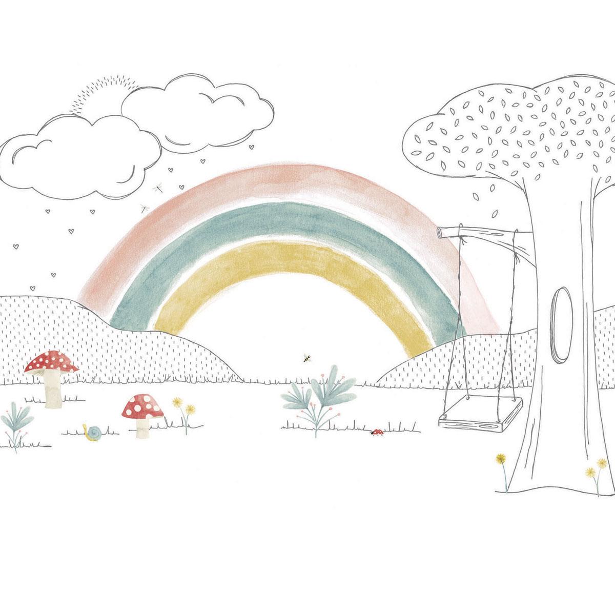 Painel cogumelos arco iris