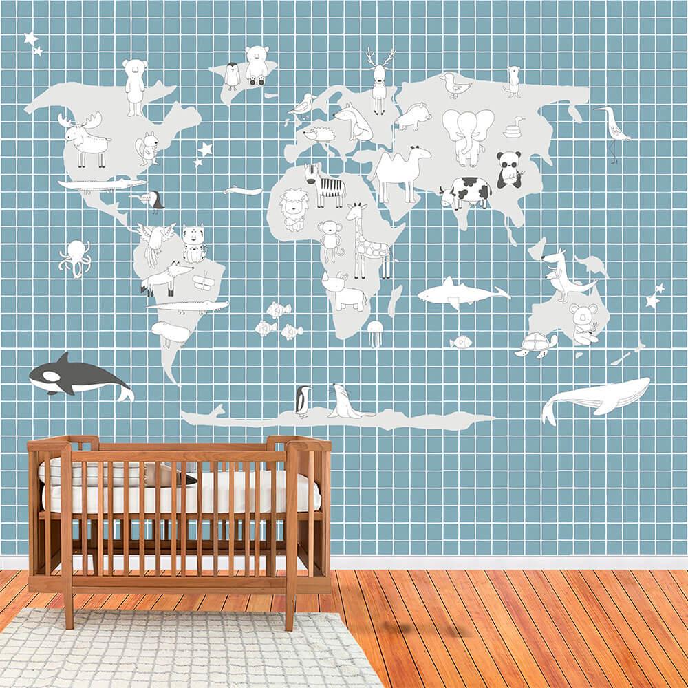 Painel de parede mapa