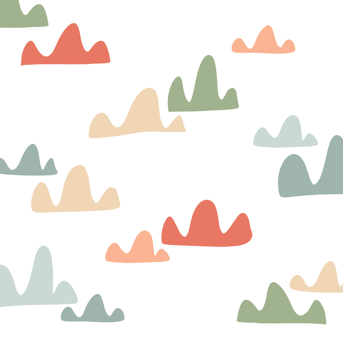 Painel de parede  nuvens colors