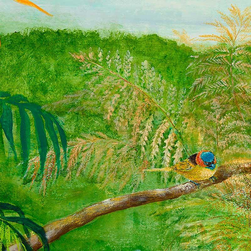 Painel floresta verde   Adriana e Carlota