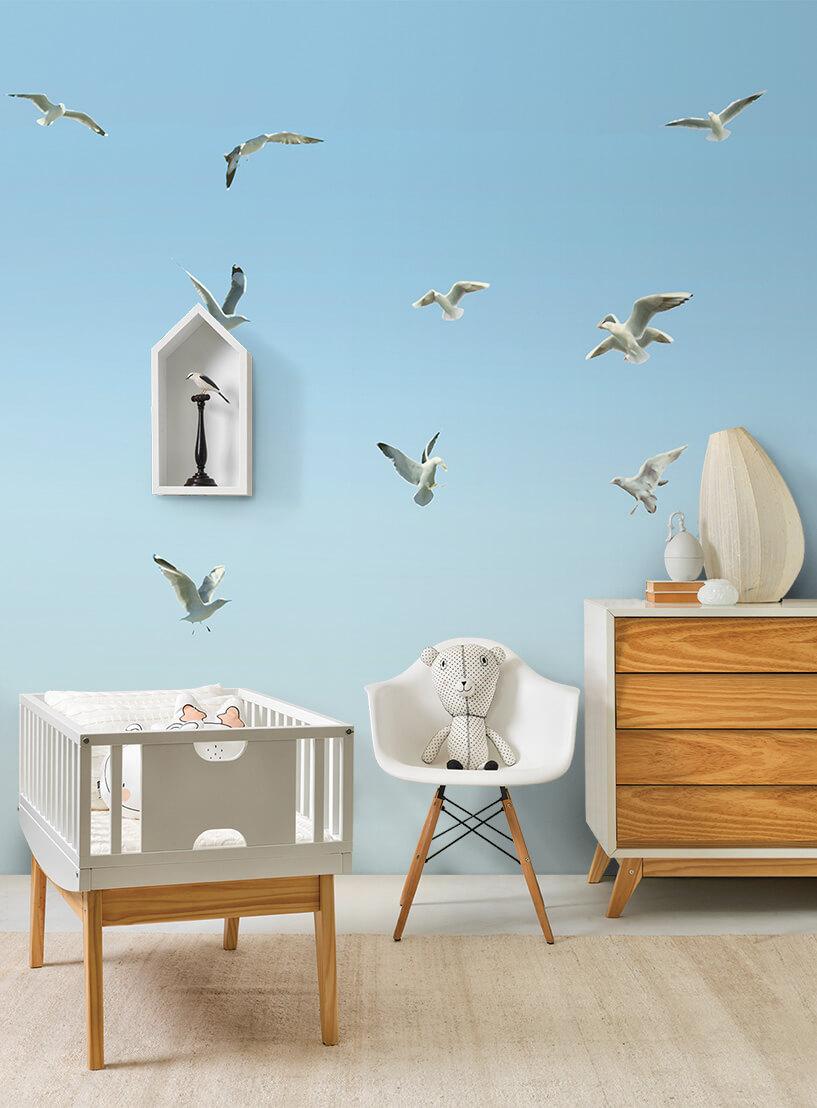 Painel gaivotas azul | Snijder e Co