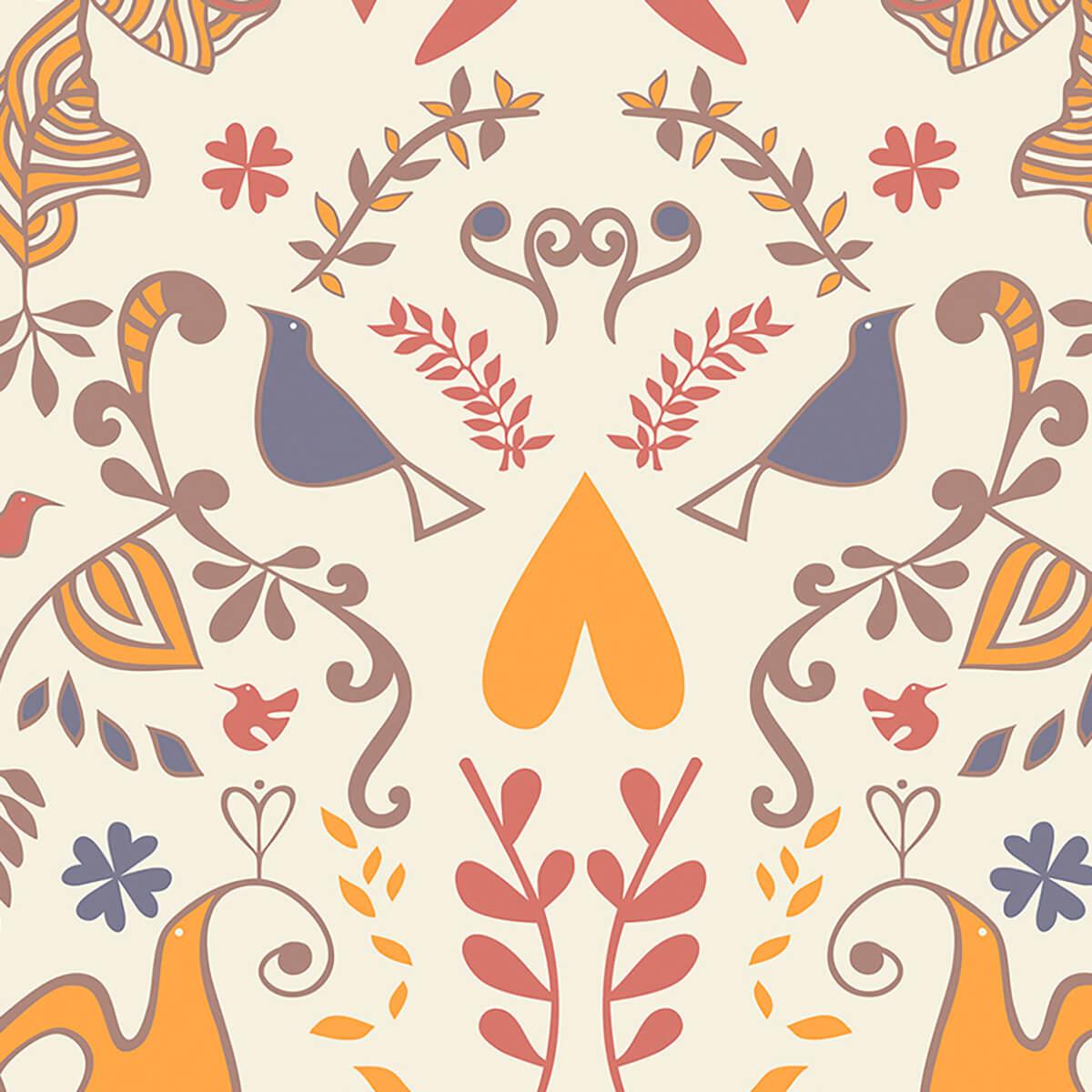 Papel de parede barroco | Joana Lira