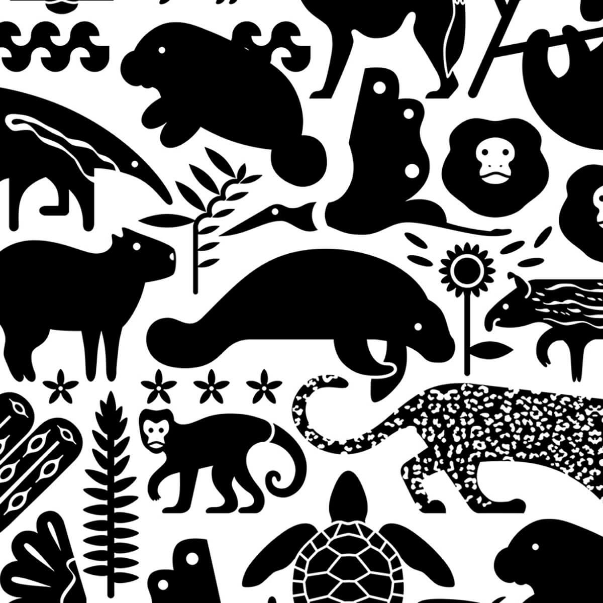 Papel de parede bichos do Brasil   Marcelo Rosenbaum