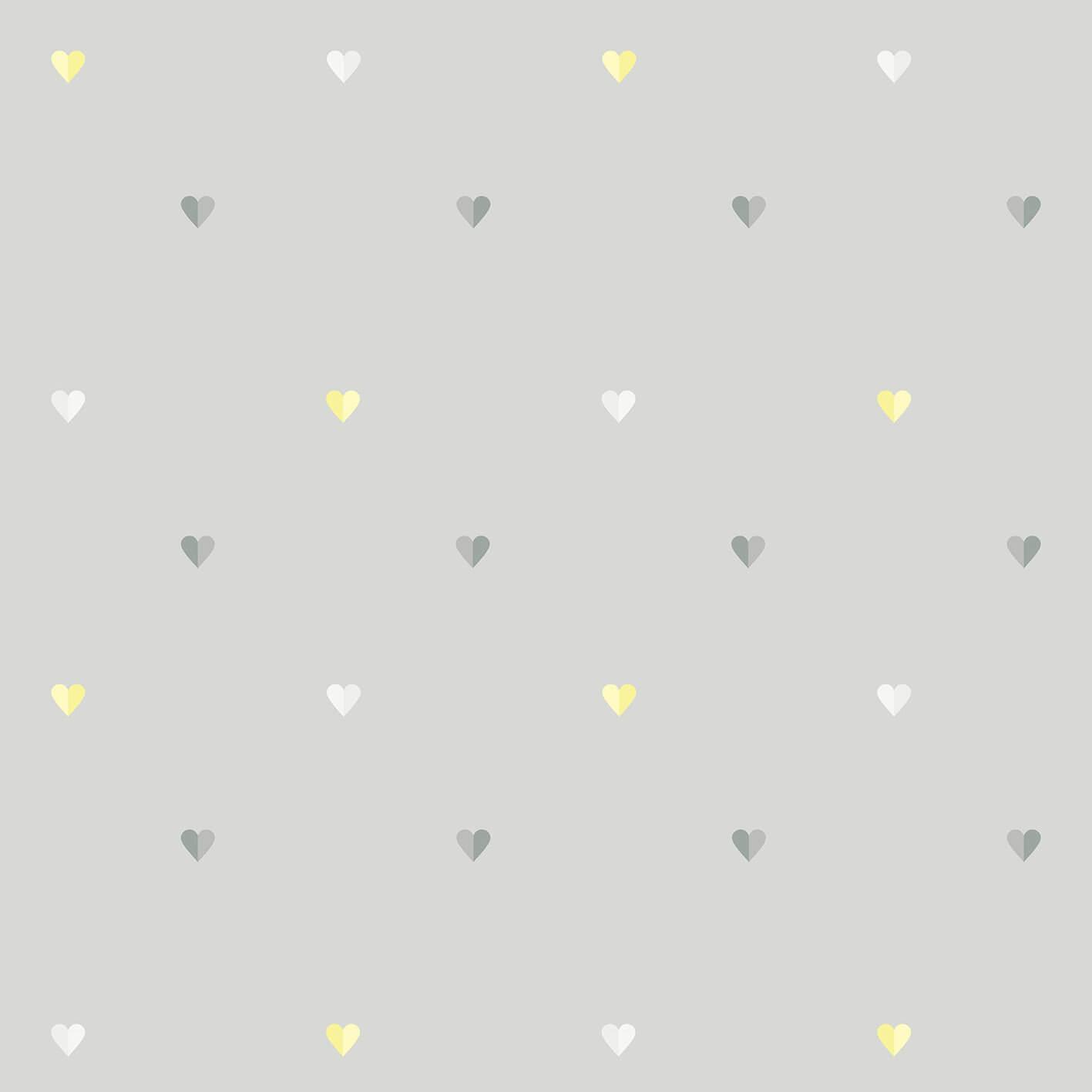 Papel de parede coração bicolor