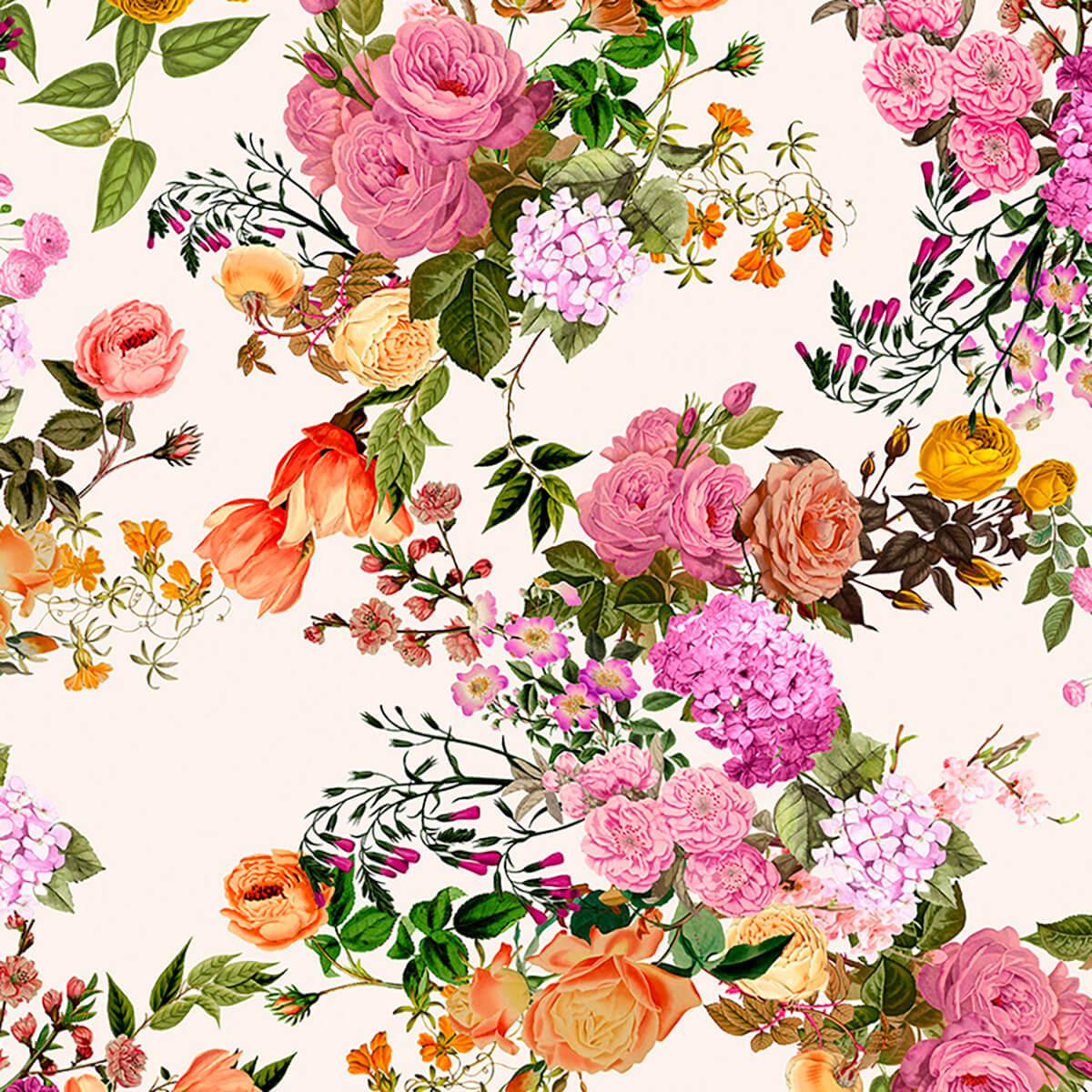 Papel de parede floral grande   Regina Strumpf