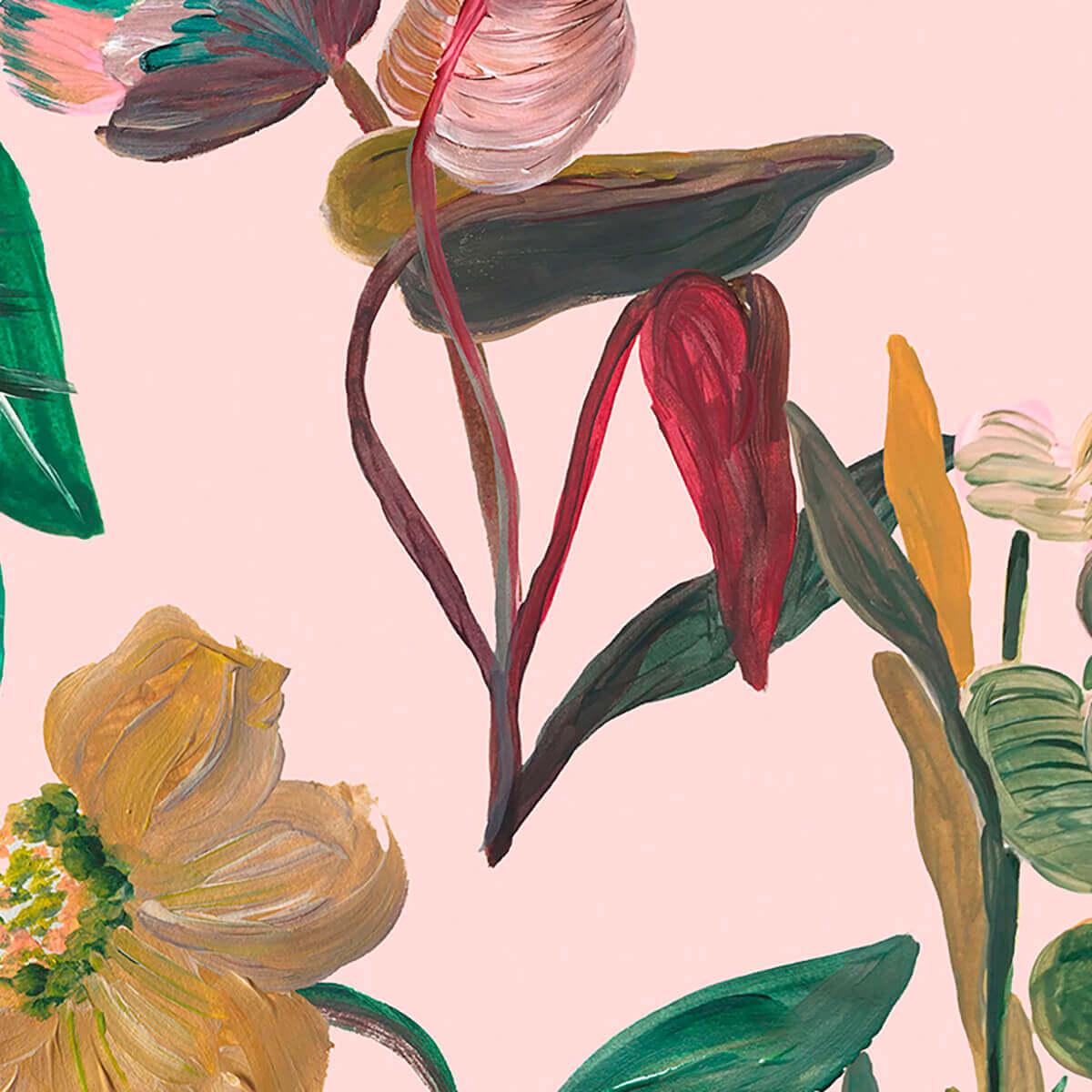 Papel de parede flores imaginárias | Pat Lobo