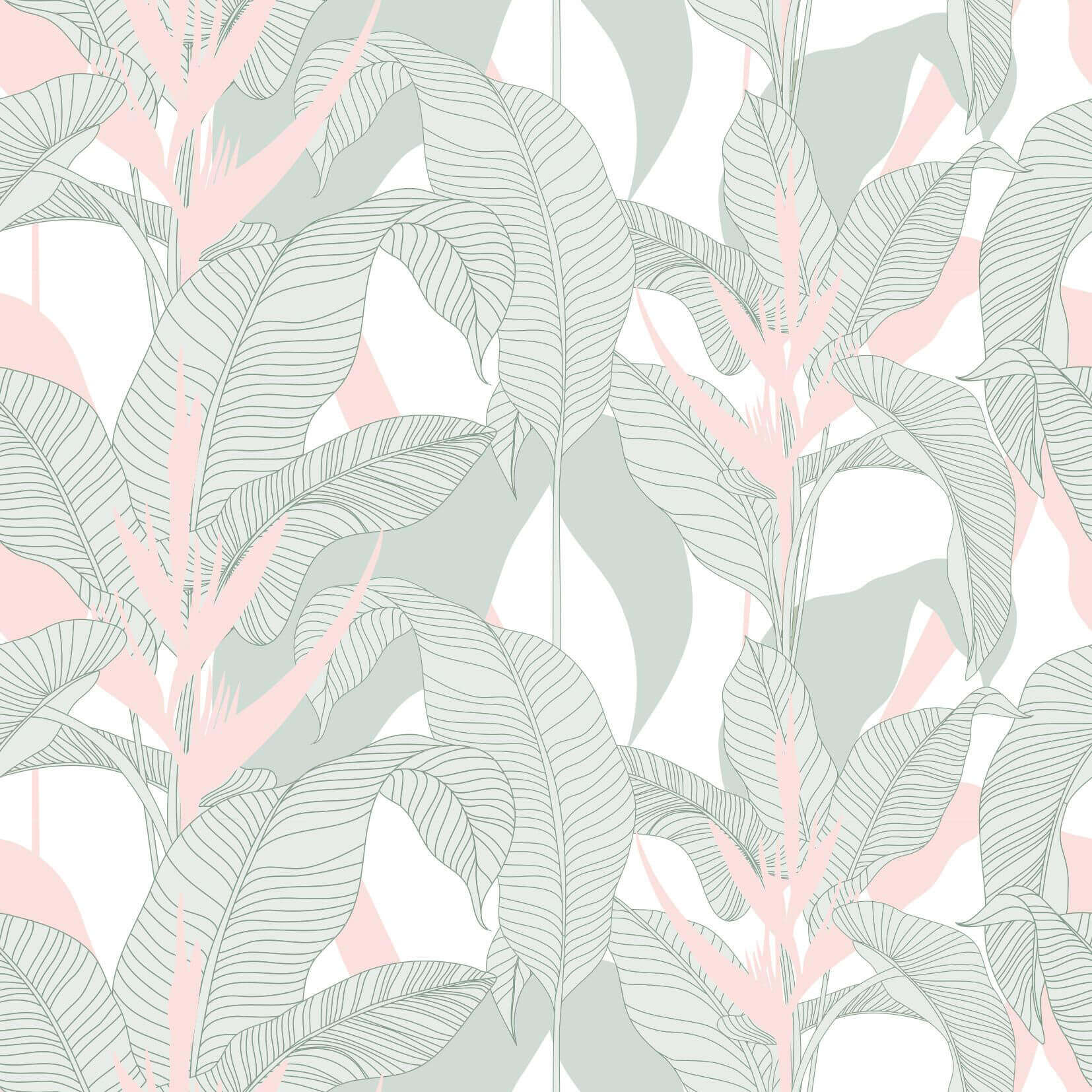 Papel de parede folhagem tropical