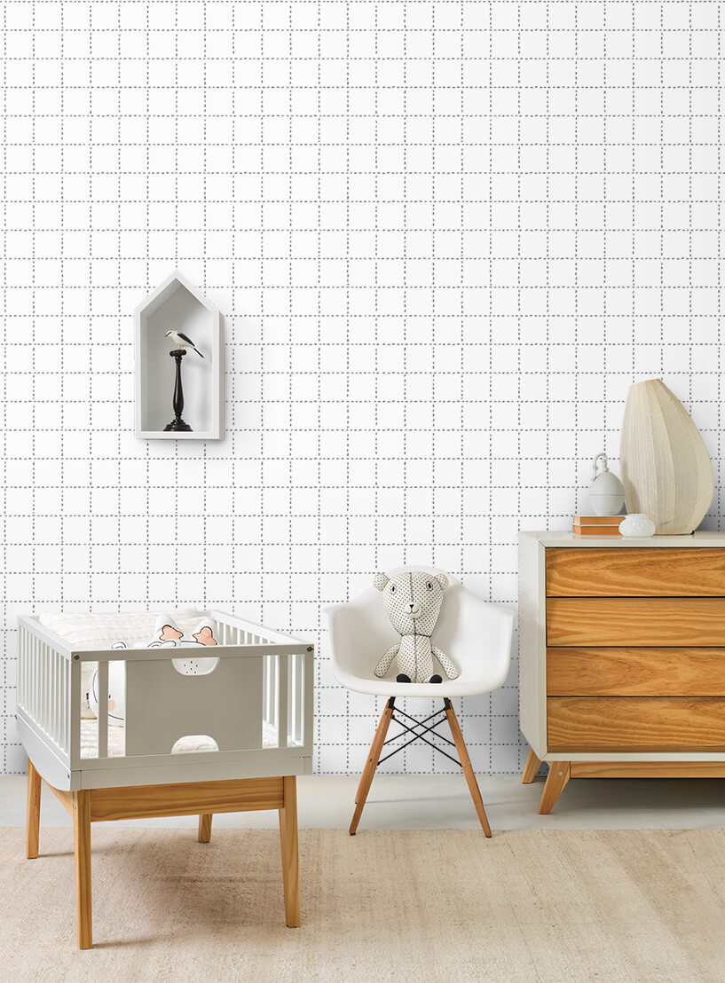 Papel de parede formigas xadrez | Snijder E Co