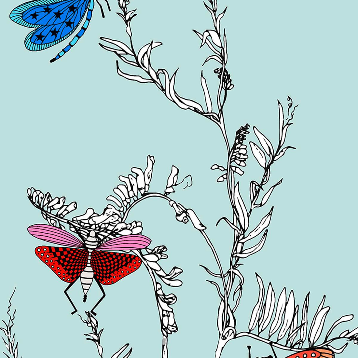 Papel de parede insetos e folhas   Ana Strumpf