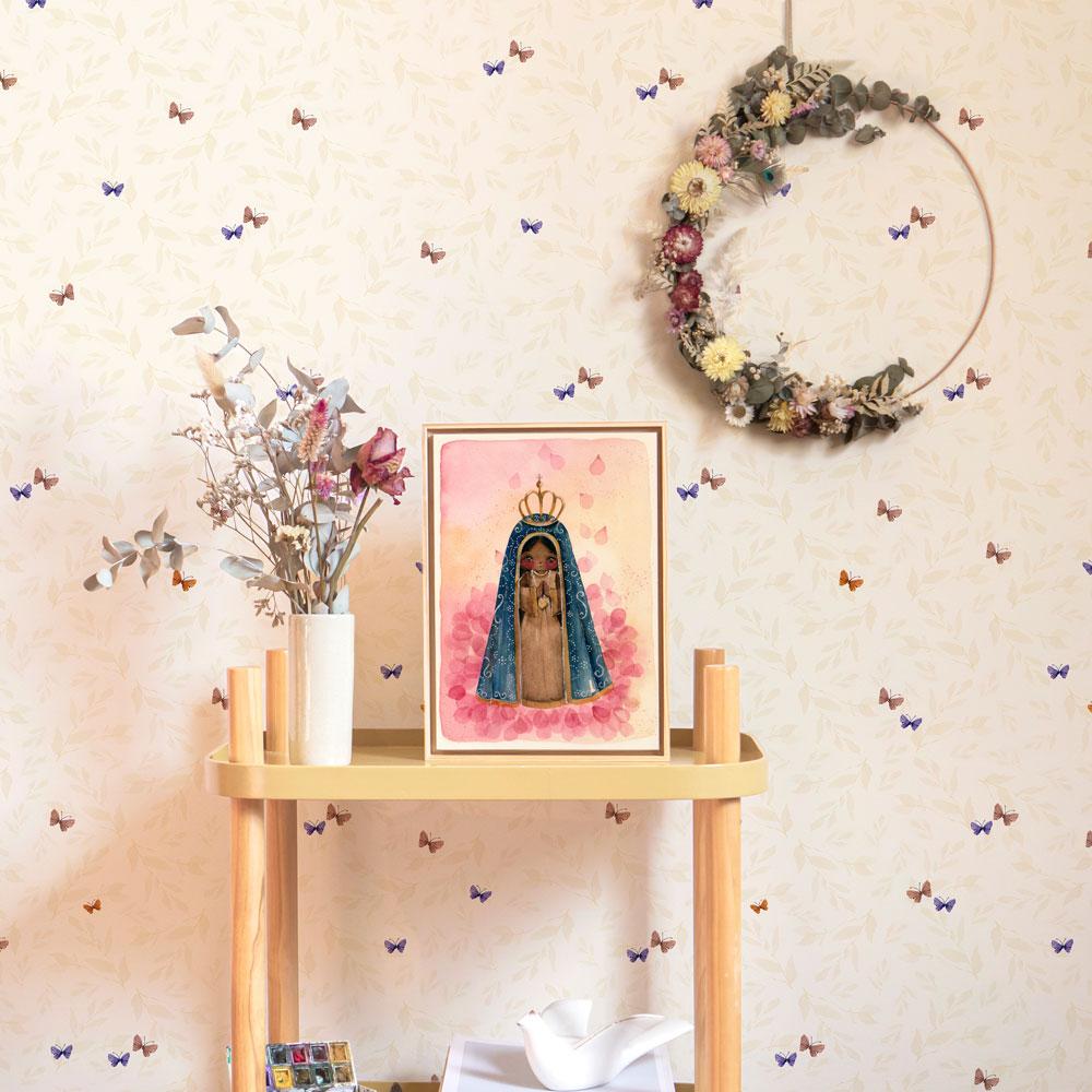 Papel de parede jardim de borboletas | Eu sou Abê