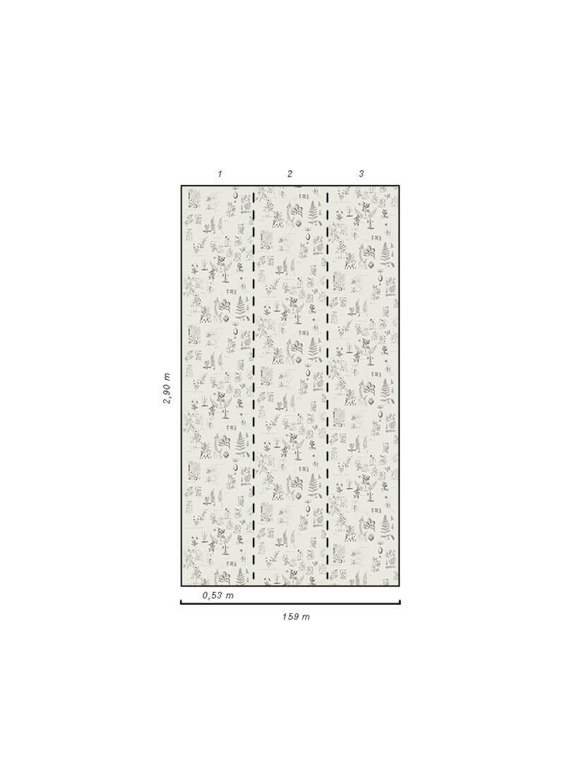 Papel de parede lápis areia | Flo