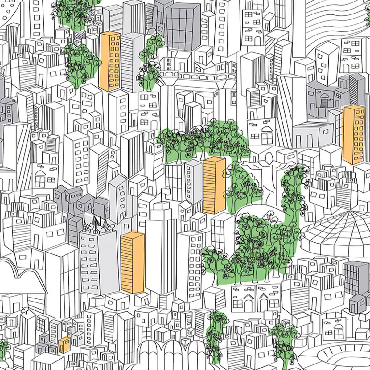 Papel de parede metrópole   Marcelo Rosenbaum