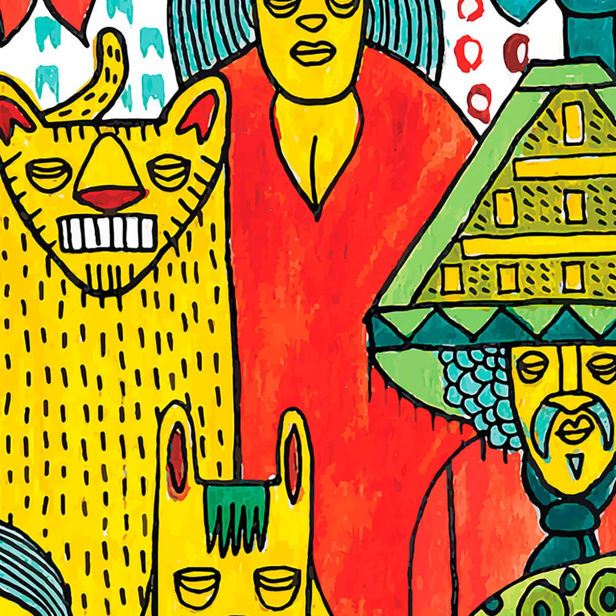 Papel de parede nação multicolorido | Marcelo Rosenbaum