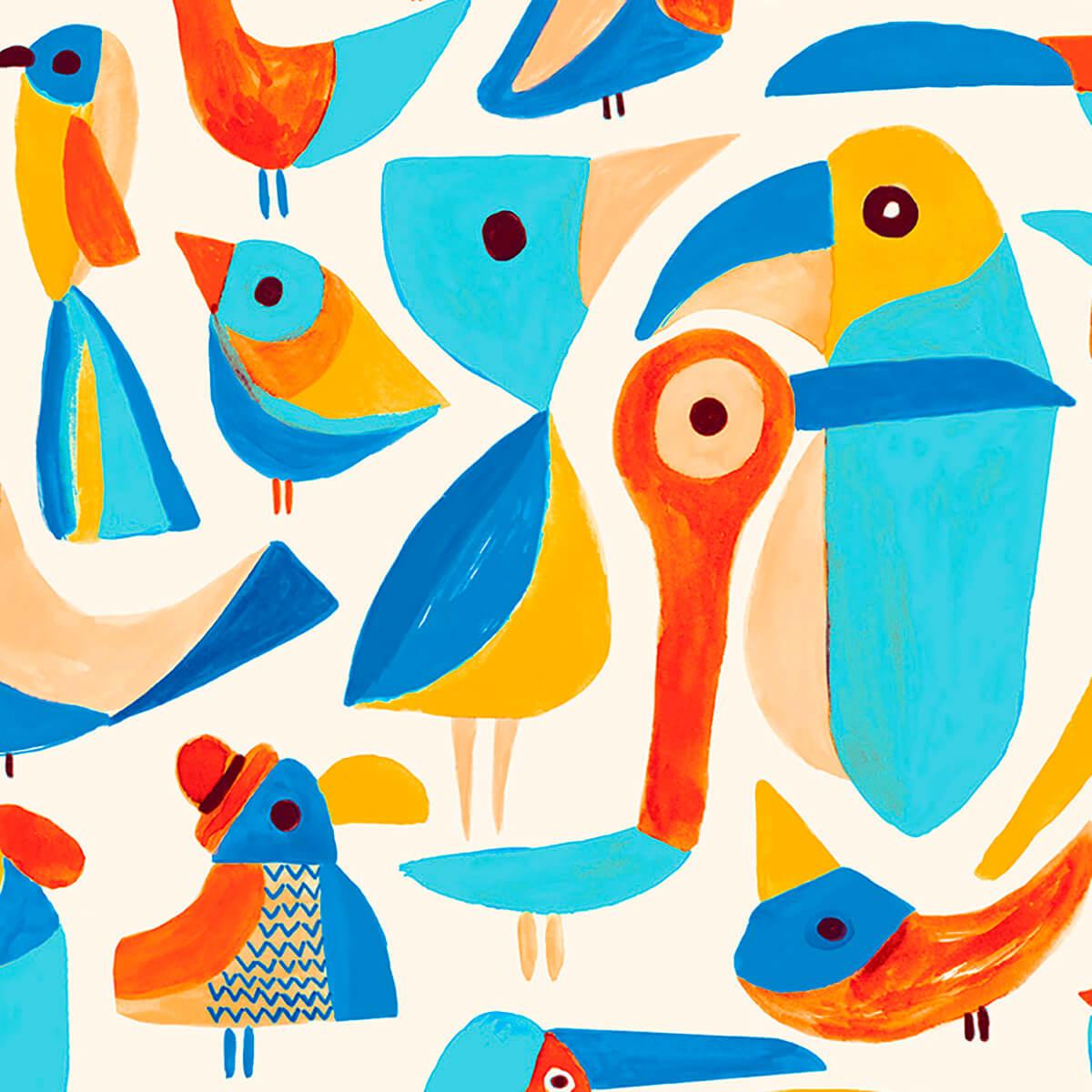 Papel de parede pássaros | Jana Glatt