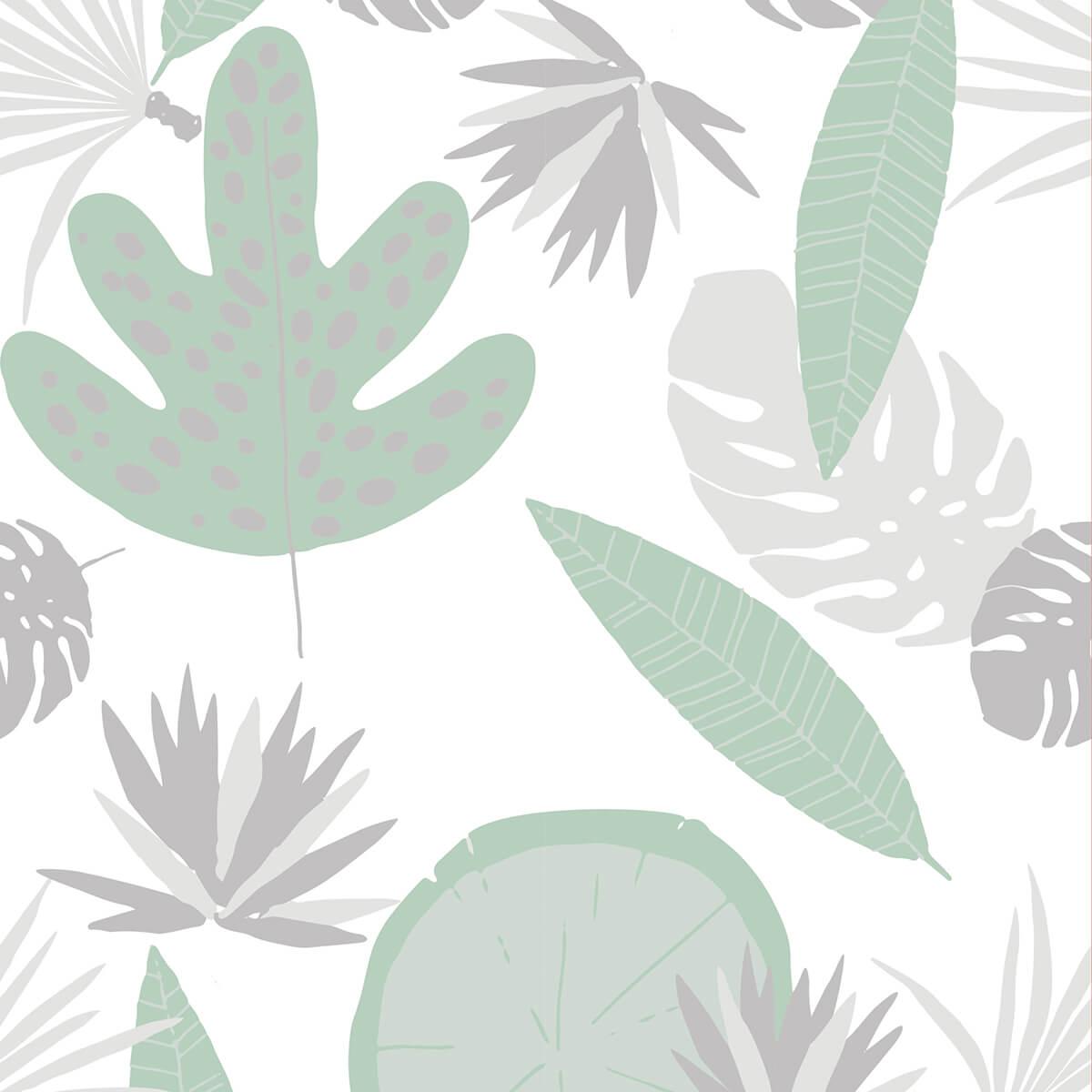 Papel de parede selva flora