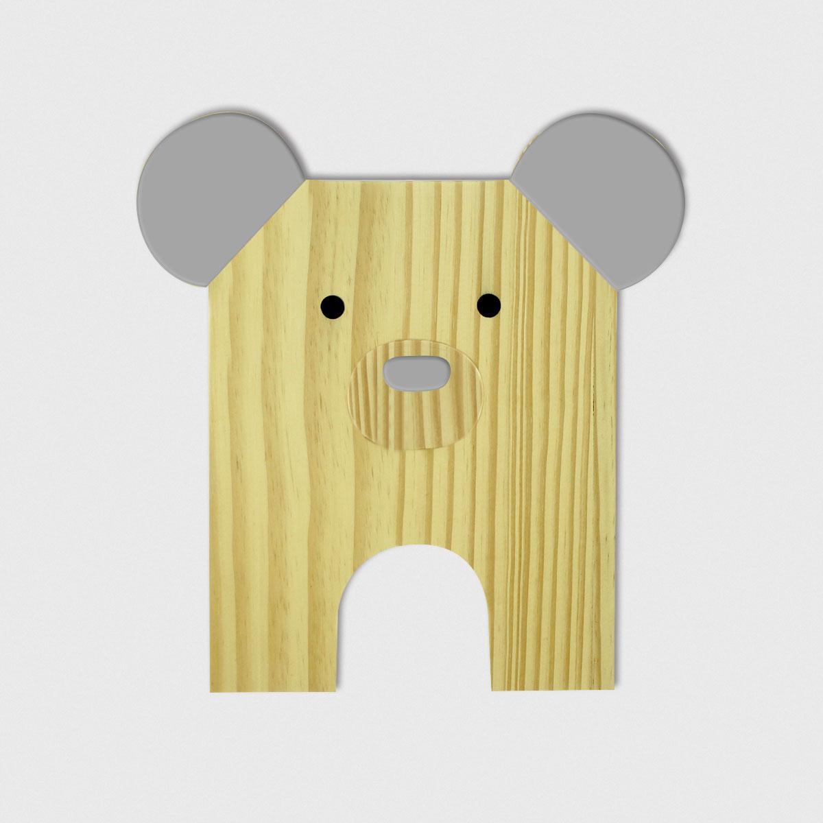 Placa de Bicho Urso