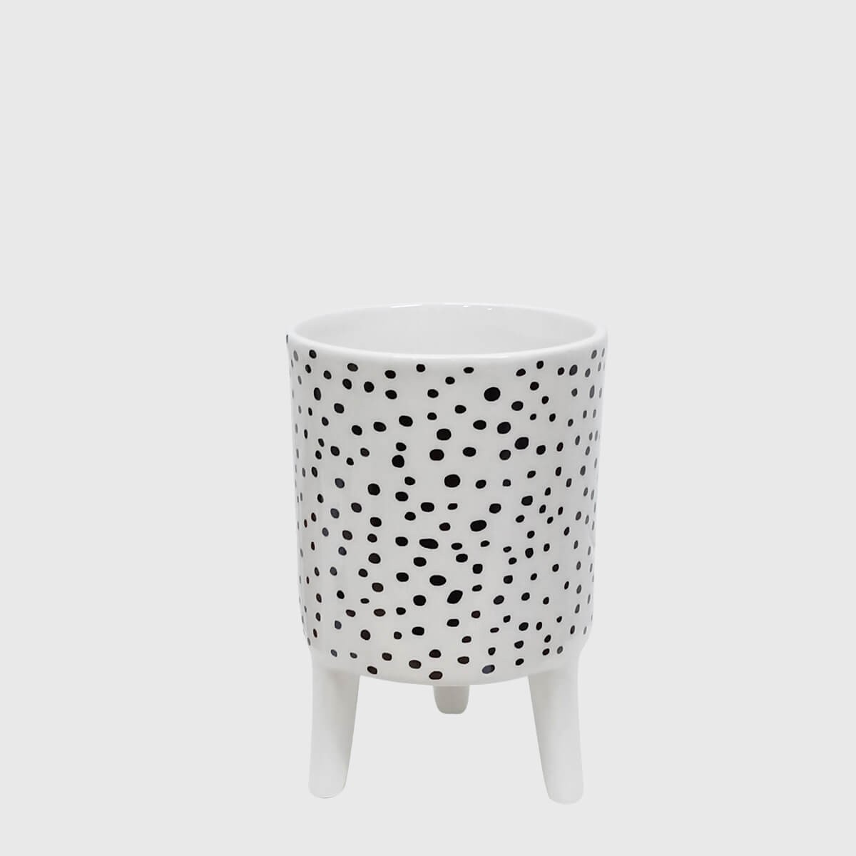 Vaso cerâmica com pés poá