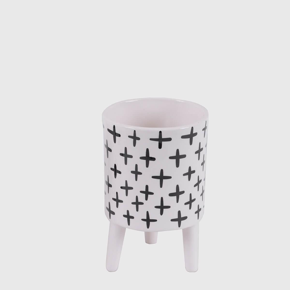 Vaso cerâmica com pés positivo