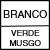 BRANCO/VERDE MUSGO