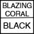 BLAZING CORAL/BLACK