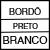 BORDO/PRETO/BRANCO