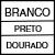 BRANCO/PRETO/DOURADO