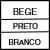 BEGE/PRETO/BRANCO