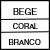 BEGE/CORAL/BRANCO