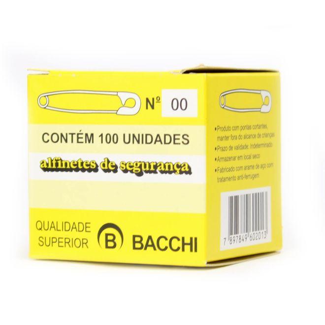 Alfinetes de Segurança N.00 Caixa com 100 Unidades - Bacchi