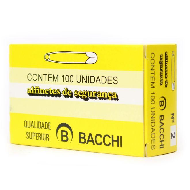 Alfinetes de Segurança N.2 Caixa com 100 Unidades - Bacchi