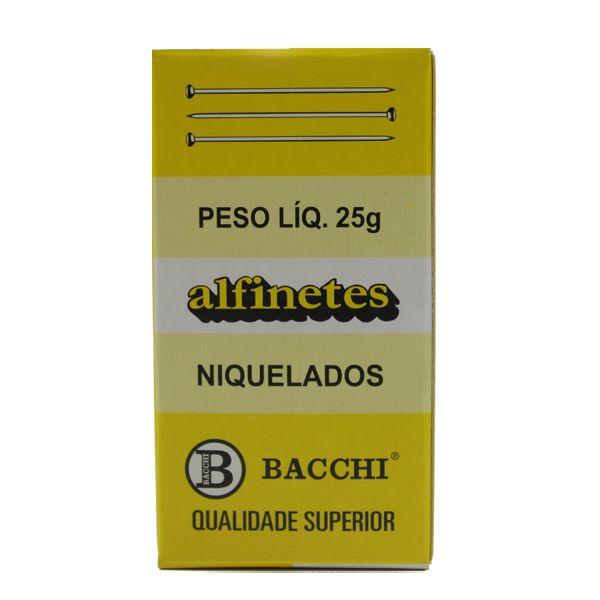 Alfinetes Niquelados nº29 25g - Bacchi