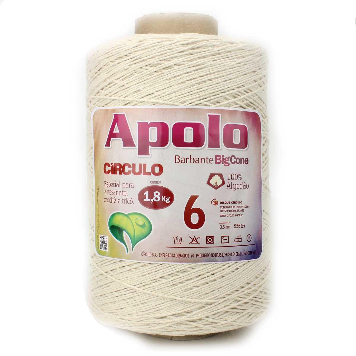 Barbante Apolo Crú N06 1,8kg - Círculo