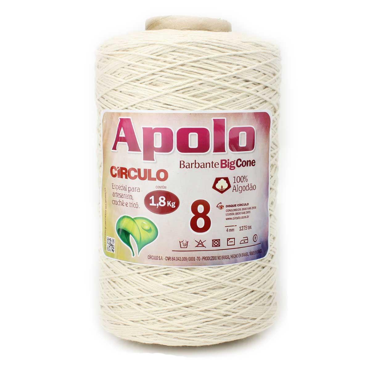 Barbante Apolo Crú N08 1,8kg - Círculo