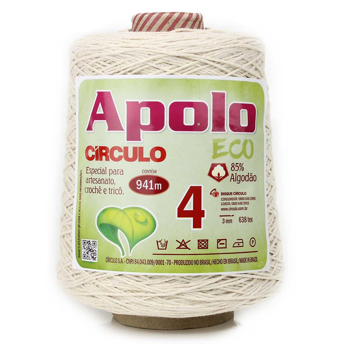 Barbante Apolo Eco Crú N04 600g - Círculo