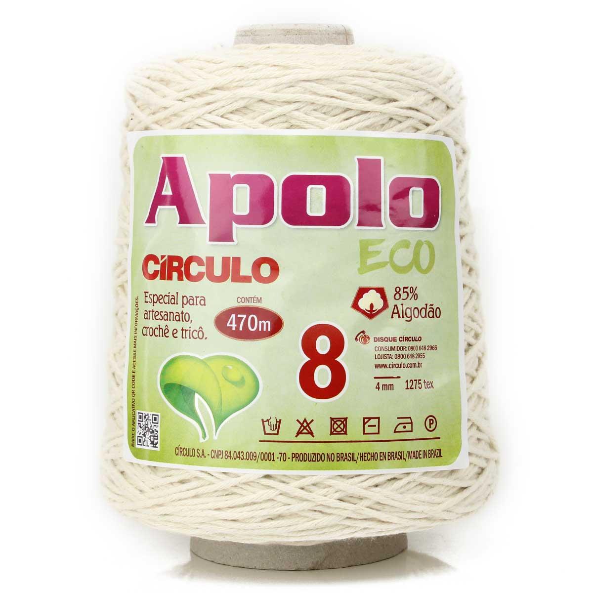 Barbante Apolo Eco Crú N08 600g - Círculo