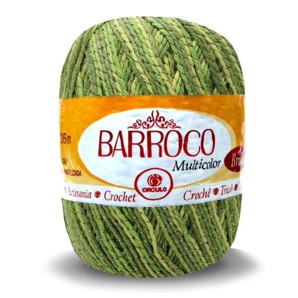 Barbante Barroco Multicolor Brilho Ouro 200g - Círculo
