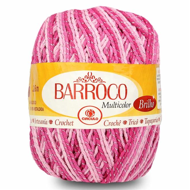 Barbante Barroco Multicolor Brilho Prata 200g - Círculo