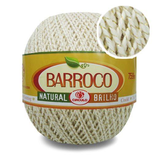 Barbante Barroco Natural Brilho Dourado N06 700g - Círculo