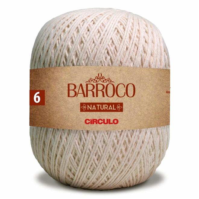 Barbante Barroco Natural Crú N06 700g - Círculo