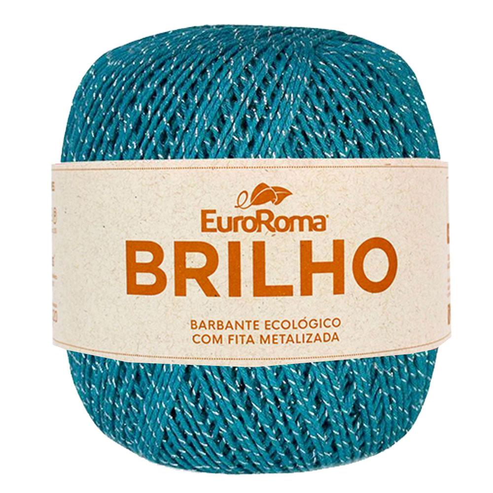 Barbante Brilho Prata N06 400G - Euroroma