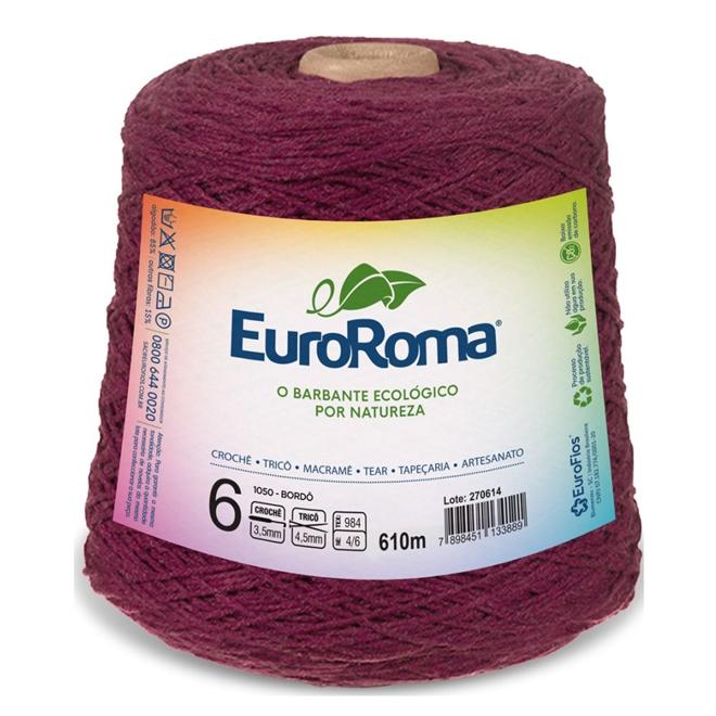 Barbante Colorido N06 600g - Euroroma