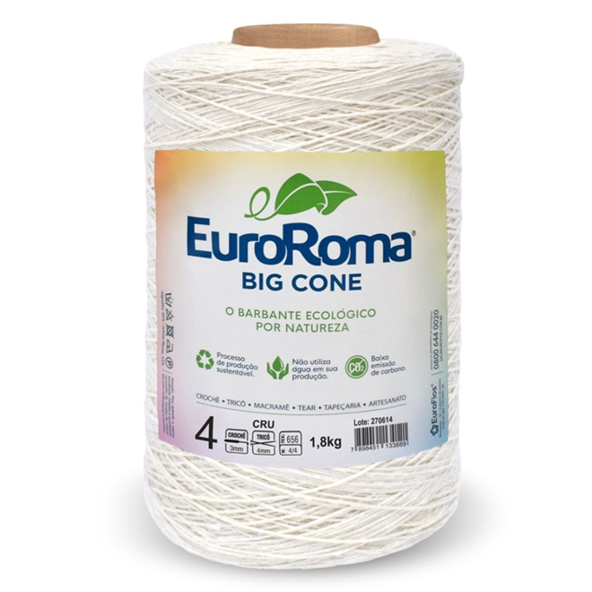 Barbante Crú N04 1,8Kg - Euroroma