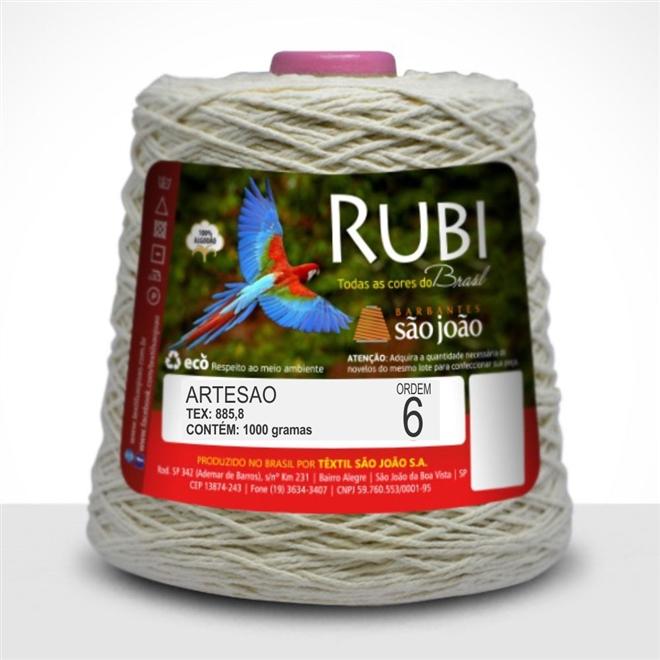 Barbante Rubi Crú N06 1kg - São João