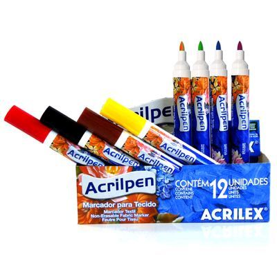 Caneta para Tecidos Acrilpen - Acrilex