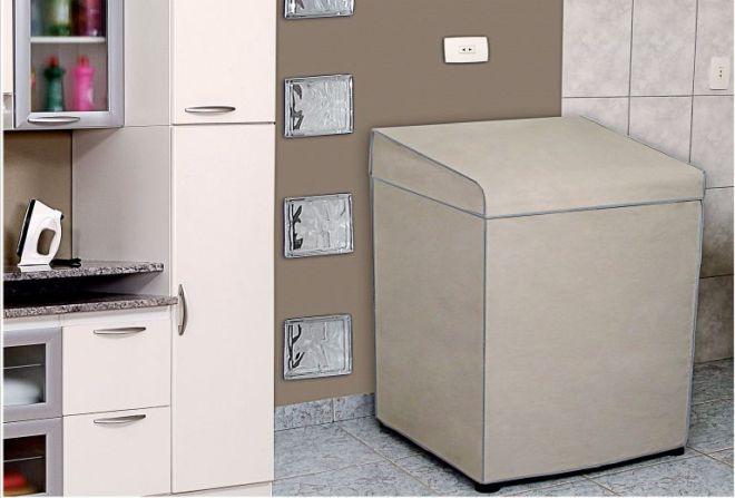 Capa para Máquina de Lavar Ref. 2040 Electrolux 8kg / Brastemp 8kg e 9kg / Consul  7kg e 8kg - Adomes